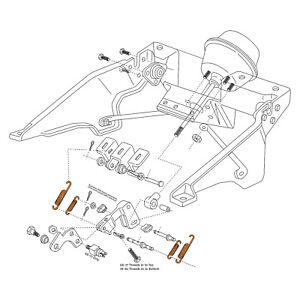 1968-1982 Corvette C3 Headlight Housing Actuator Link Spring 8 Piece Kit 601459