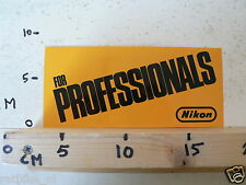 STICKER,DECAL NIKON FOR PROFESSIONALS CAMERA 20 CM