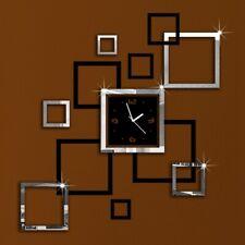 Modern Removable Mirror Acrylic Wall Clock Stickers Vinyl Art DIY 3D Home OOL