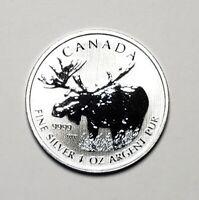 2012 Canada $5.00 1 oz Silver Maple Leaf .9999 Moose