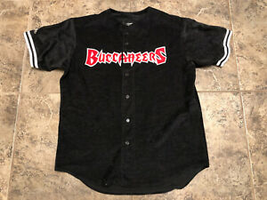 Vintage Majestic NFL Tampa Bay Buccaneers Embroidered Baseball Jersey Sz L