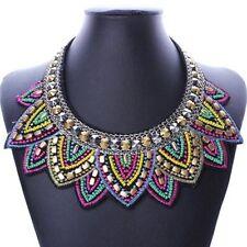 Fashion Gothic Jewelry Women Bib Statement Crystal Beaded Collar Necklace Choker