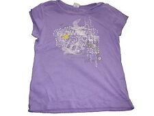 s. Oliver tolles T-Shirt Gr. 128 / 134 lila mit Druckmotiv !!