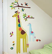 Growth Chart Giraffe Jungle Wall Play Mural Decal Measure Removable Peel Sticker