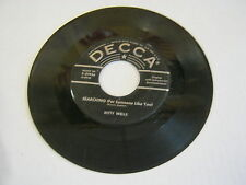 Kitty Wells Searching/I'd Rather Stay Home 45 RPM Decca Records VG
