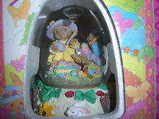 "Easter Bunny Water Globe with Musical Playing ""Easter Parade"" Hand-Painted NEW"