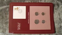 Coin Sets of All Nations Cyprus w/ card all coins 1982 UNC 100, 50, 25, 5 Mils
