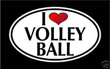 "5.75"" I LOVE VOLLEYBALL vinyl decal sticker.. sports"
