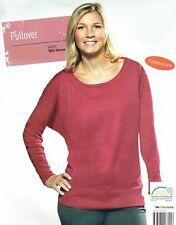 Damen Pullover Strick Fledermausarm kirschrot dunkellila Shirt Sweater Öko-Tex