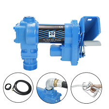 Gasoline Fuel Transfer Pump with Nozzle Kit 12V DC 20GPM For Gas Diesel Kerosene