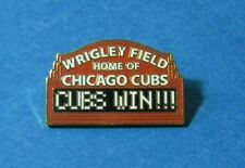 WRIGLEY FIELD HOME OF CGO. CUBS - CUBS WIN PIN NEW