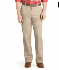 Izod Pants Men's Tan 32 x 32 Heritage Chino Straight Fit New