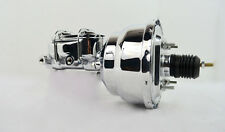 "7"" STREET ROD SINGLE POWER BRAKE BOOSTER W/ DUAL BOWL MASTER CYLINDER CHROME"