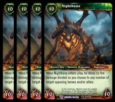 4x Nightbane Betrayal of the Guardian Epic 150 World Warcraft WoW TCG