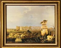 "(after) ANTOINE SMINCK PITLOO ""The Temples of Paestum"" (1824) Canvas Giclée"