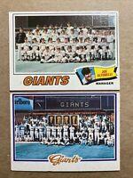 San Francisco Giants Team Baseball Card Lot(2):'77 & '78 Topps.