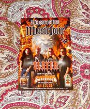 Slayer - Hatebreed - 2003 Tour Handbill! Jager Music Tour! 2 Sided! Look!