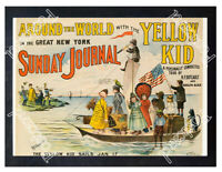 Historic Around the World with the Yellow Kid 1897 Advertising Postcard
