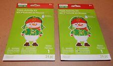 Christmas Craft Foam Activity Kits Creatology 50pc 2 pack Camouflage Snowman 93F