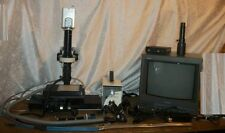 LOT OF MISC MICROSCOPE FIBER OPTIC LIGHTS & MONITOR