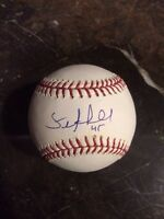SEAN MARSHALL AUTOGRAPHED SIGNED BASEBALL OMLB SNOW WHITE 45 INSCRIPTION REDS