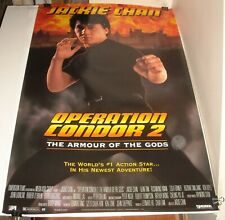 ROLLED JACKIE CHAN in OPERATION CONDOR 2 ARMOUR of the GODS MOVIE POSTER ACTION