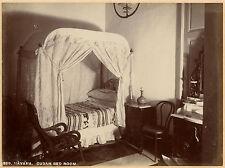 1898, J Murray Jordan, CUBAN Bedroom, Havana, CUBA, original photo 20.5x15.25cm