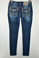 Miss Me Mid Rise Skinny Jeans Womens Size 28 Blue Meas. 28x32.5 Flap Pocket