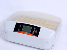 CE 32 Eggs Digital Fully Automatic Incubator Turner Poultry Chicken Duck Birds
