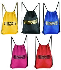 EVO Drawstring Gym Bags sack Sports School Swim Kit pe Travel Backpack college