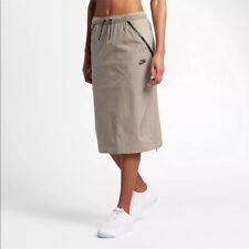 NWOT Nike Sportswear Tech Hypermesh Skirt Tan 833468-235 Drawstring Women S $100
