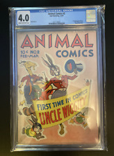 Animal Comics #2 Dell Publishing 23/43 1943 Uncle Wiggily CGC graded 4.0!