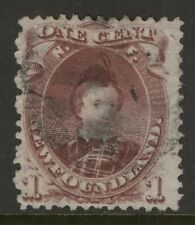 NEWFOUNDLAND 32A 1871 1c BROWN LILAC EDWARD PRINCE OF WALES USED CV$100