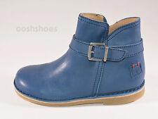 Petasil Viana Girls Cobalt Blue Leather Zip Boots UK 13 EU 32 US 13.5 RRP £52.00