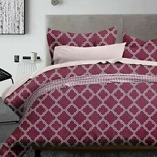 Dcp 5-Piece Microfiber Bedding Comforter Sets Bed in a Bag,Geometric Red,Queen