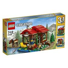 NEW LEGO Lakeside Lodge 31048 Creator Moose Fishing Cabin 3 In 1 Antlers Outdoor