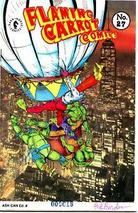 Flaming Carrot Comics #27; Signed Ashcan by Bob Burden (Dark Horse, 1991)