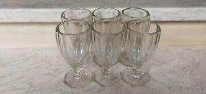 6x Grogglas - Preßglas - 60.iger Jahre - DDR - gebraucht