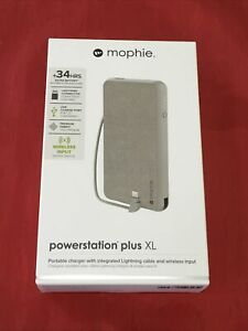 New Mophie Qi Wireless 10,000mAh Powerstation Plus XL with Lightning Cable