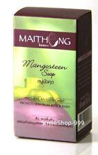Maithong Mangosteen Soap Bar Natural Anti Oxidant Reduce Acne Dark Spot Face AHA