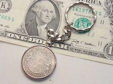 CANADA 1952 .800 silver half dollar coin KEY RING CHAIN birthday retirement gift