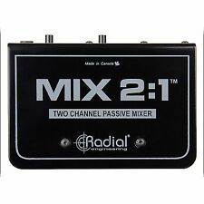 Radial Mix 2 1 Two Channel Audio Combiner and Mixer