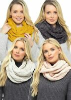 """Womens Ladies Undercover Chunky Knit Winter Neck Warmer Snood Scarf (30""""x13"""")"""