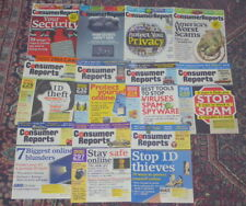 Consumer Reports back issue collection: Focus On Privacy & Security (11 issues)