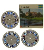 View-master - GAF - SUEDE - 3 disques - 21 photos en relief - complet