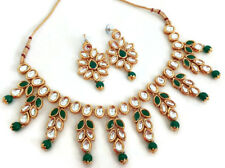 Indian Bollywood Necklace Set Gold Plated Kundan Fashion Colored Bridal Jewelry
