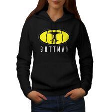 Wellcoda Butt Man Sexy Womens Hoodie, Sign Hero Casual Hooded Sweatshirt