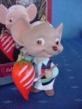 HALLMARK FELIZ NAVIDAD CHRISTMAS ORNAMENT Mouse makes his PEPPER a CANDY CANE w