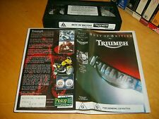VHS *TRIUMPH - 'The Best of British' * 1998 Rare Oz Motorcycle Tribute Video