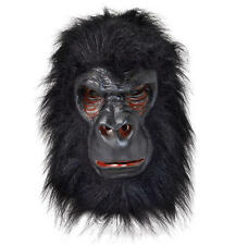 Gorilla With Black Hair Rubber Mask Fancy Dress Costume Outfit Prop Grodd